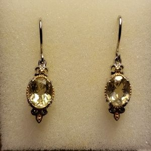 Jewelry - GENUINE STERLING SILVER & CITRINE EARRINGS